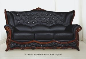 Christina in walnut wood with crystal